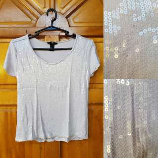 H&M Sequin / Shiny Top