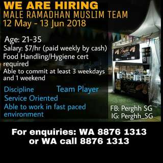 Part time muslim to join the ramadhan team