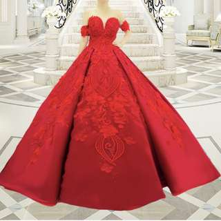 RED BALL GOWN - FOR RENT