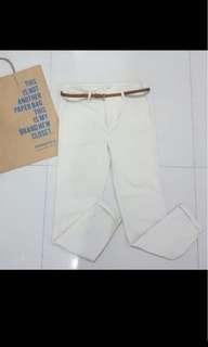 Springfield white trousers/pants/slacks