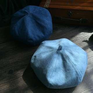 Brand new denim beret hat/cap