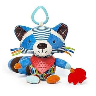 60% OFF Retail Price - Skip Hop Bandana Buddies Multi Activity Toy (Racoon) - SkipHop BPA-Free, PVC-free, Phthalate-free - Babysafe