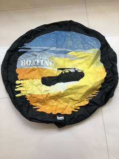Rear spare tyre cover