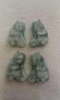 天然A貨翡翠熊貓四件