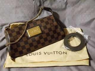 100% Authentic LV (Louis Vuitton) Damier ebene Eva clutch