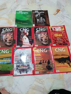 CNG & Asian geographic magazines