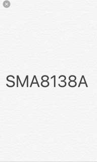 Car number plate for sales SMA8138A