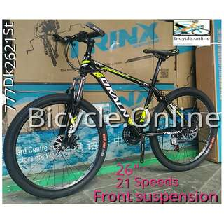 "26"" Dkaln Mountain Bike / MTB ☆ 21 Speeds, Disc brakes, front suspension ★Brand new bicycle"
