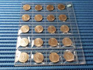 1957KN Malaya and British Borneo Queen Elizabeth II 20 Cents Coin ( Price Per Piece )