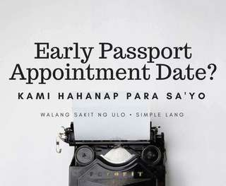 Passport Appointment Assistance