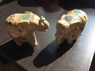 泰國手工寶石象