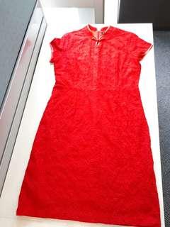 Shanghai red dress