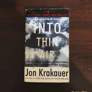 Jon Krakauer Into Thin Air