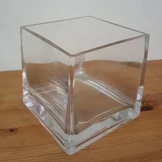 Clear Glass Vase Square
