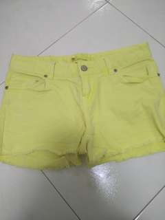 ☆ [3 for $15, buy 6 get 1 FREE] Neon yellow shorts