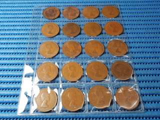 1962, 1964, 1965 & 1967 United Kingdom Queen Elizabeth II One Penny Coin ( Price Per Piece )