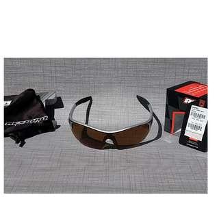 Original kacamata Respiro seri L-3672 frame silver lensa black brown polarize