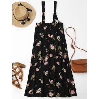 Floral Suspender Maxi Skirt TG