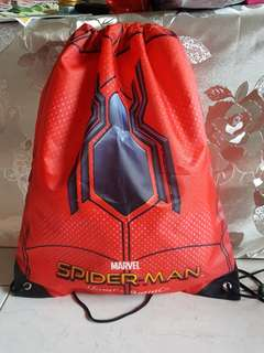 Spiderman draw string bag