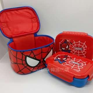 現貨 韓國正品 MARVEL 蜘蛛人Spider Man 不鏽鋼 雙層樂扣隔熱便當盒 可拆式 便當盒