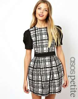 Asos Petite Checked Jacquard Dress