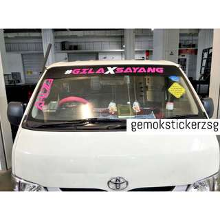VAN SUNSHADE WITH GILAXSAYANG DECAL