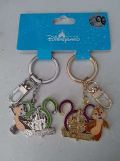 HK disneyland Chip and Dale key ring 2 pcs