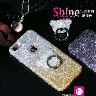 Aigaa phone case twinkle with back stand ring I6/6S/7/8 plus