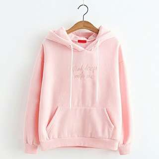 Embroidered Pink Summer Hoodie