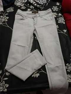 Colorbox jeans abu2 bahan tebal