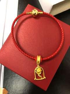 Chow Tai Fook Disney beauty and the beast charm/pendant