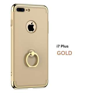Aigaa phone case silicon with stand back ring I6/6S/7/8 plus