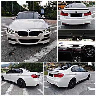SAMBUNG BAYAR/CONTINUE LOAN  BMW F30 320 M SPORT YEAR 2012 MONTHLY RM 2582 BALANCE 1 YEAR 9 MONTHS ROADTAX VALID TIPTOP CONDITION  DP KLIK wasap.my/60133524312/f30