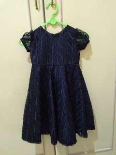Dress anak biru