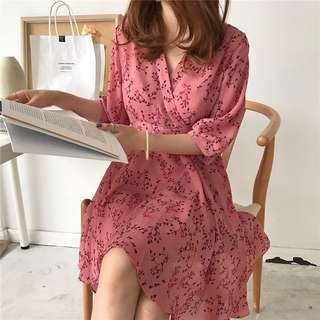 PO Radella Floral Flare Dress