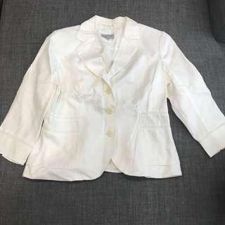 Mark and Spencers White blazer