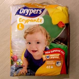 Drypers DryPantz Size L 9-14kg (Pack of 48)