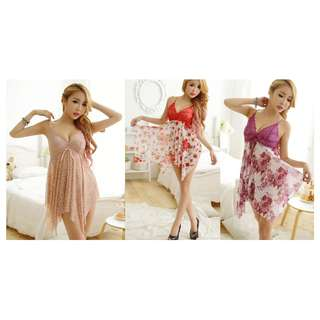 TCWK Sexy Women Nightdress Lingerie Flower Style With 3 Colours ME412