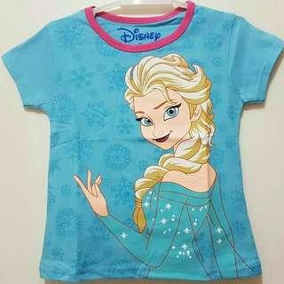 Kaos karakter anak motif frozen 1-6T