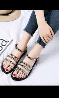 'Preorder' Studded Roman sandals shoes * waiting time 15 days after payment is made * Chat to buy to order