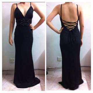 Classy Black Evening Gown/ Prom dress