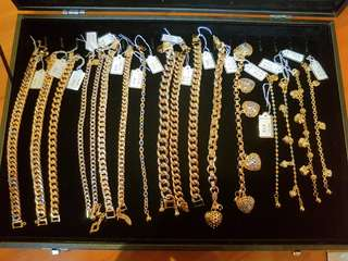 Korean 999.99 GOLD PLATED jewelleries