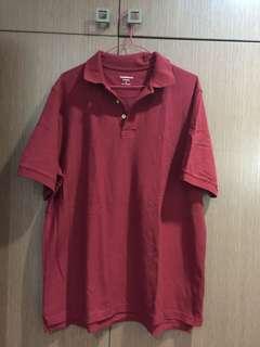 Croft and Barrow maroon polo shirt