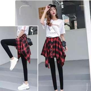 98%new~skirt long pants