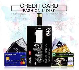 Bank Card USB Memory stick MasterCard Credit cards USB Flash Drive Pendrive 8GB 16GB 32GB 64GB Pen drive Real Capacity