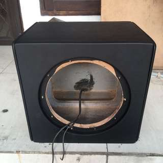 box subwoofer 10inch sealed special treatment (kulit mbtech)