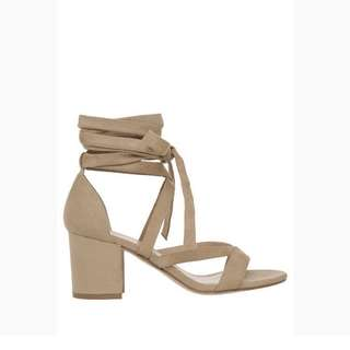 Miss Shop beige strappy heels