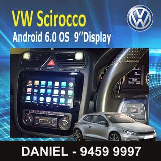 "Volkswagen Scirocco Android 7.1 OS Car Stereo 9""Display"