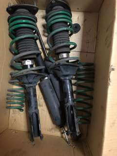 Vios suspension with tein lowering spring