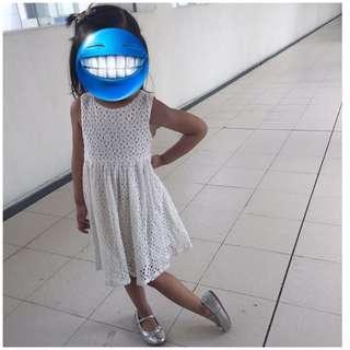 EUC White Lace dress for 3T